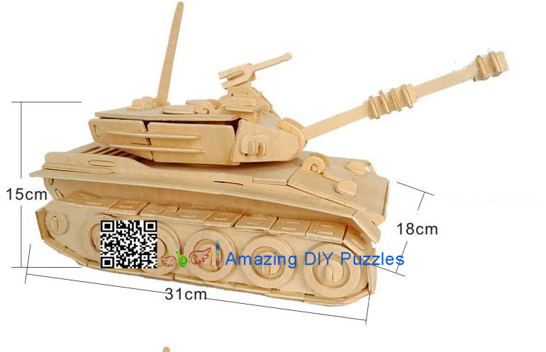 DIY toy-3D puzzle-Wooden Main Battle Tank