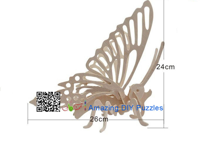 DIY toy-3D puzzle-Wooden Butterfly