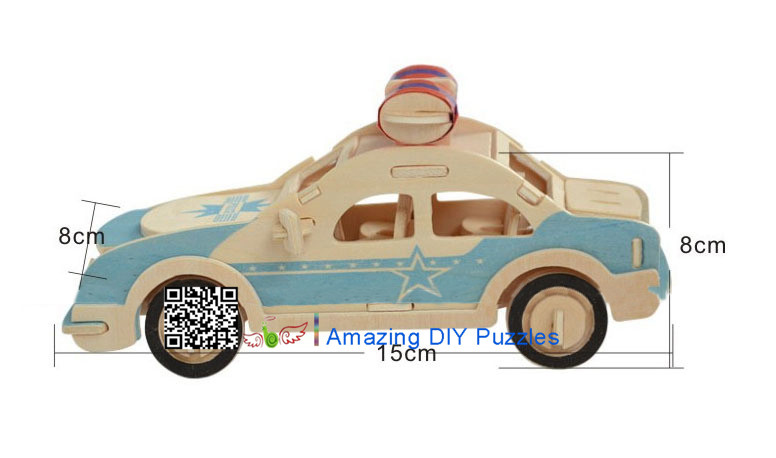DIY toy-3D puzzle-Wooden Police car