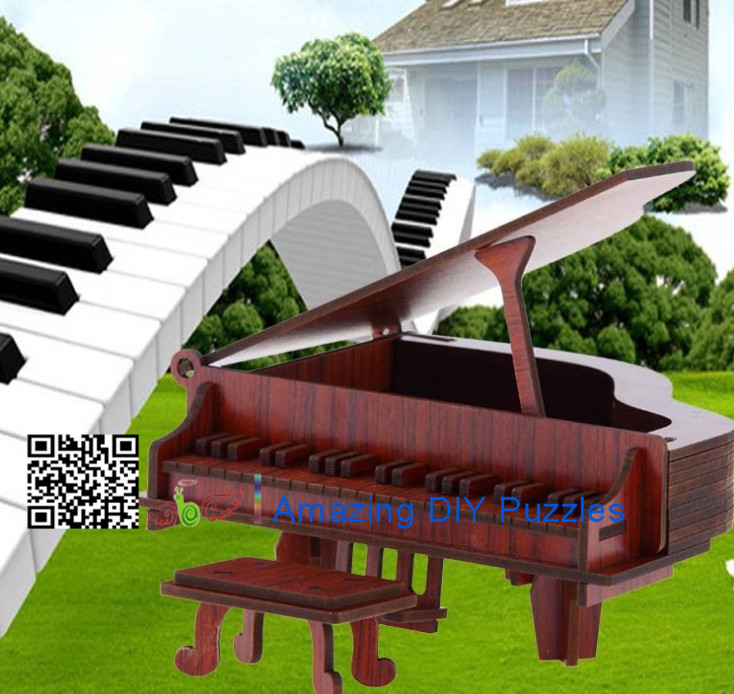 DIY toy-3D puzzle-Rosewood piano