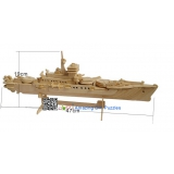 DIY toy-3D puzzle-Wooden Cruiser warship