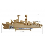 DIY toy-3D puzzle-Wooden Destroyer