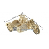 DIY toy-3D puzzle-Wooden motorcycle