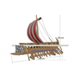 DIY toy-3D puzzle-Wooden Phoenician warships